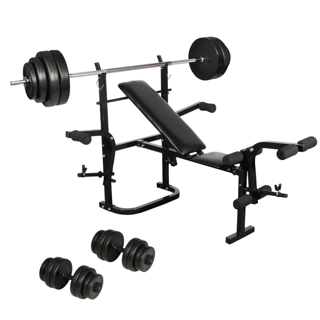 Best Home Dumbbell Set: Folding Weight Bench Dumbbell Barbell Set Home Gym