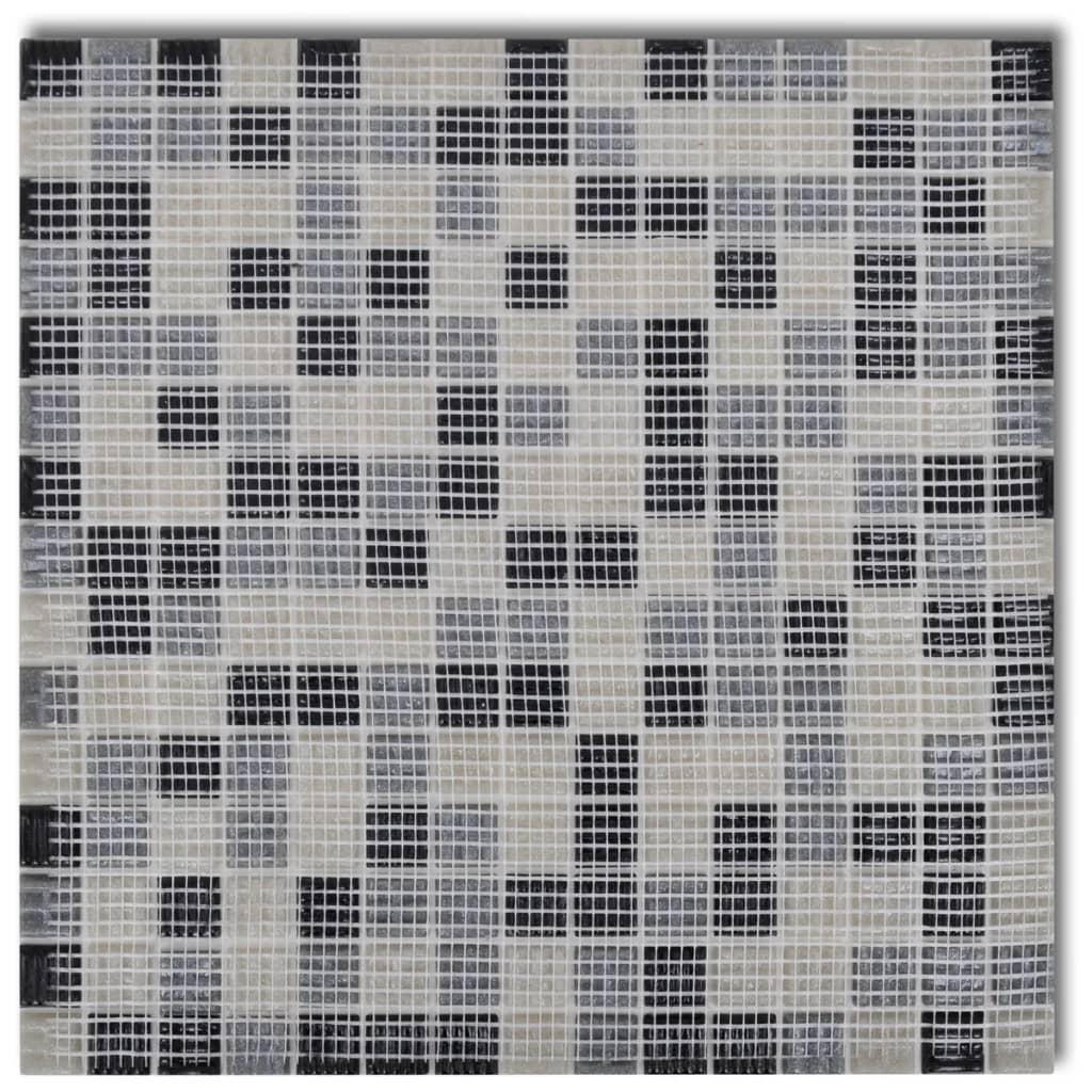 der 40x glass mosaik fliesen schwarz wei grau 4 28 qm. Black Bedroom Furniture Sets. Home Design Ideas