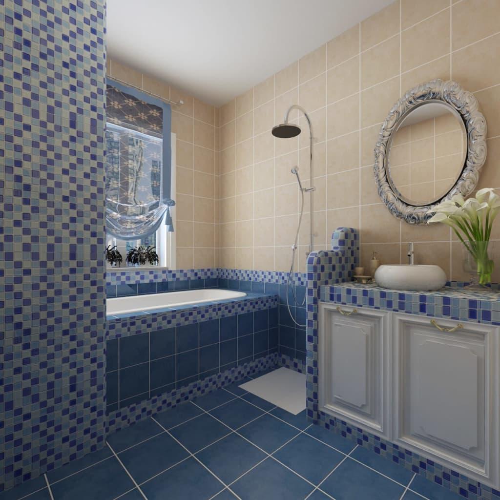 der 20x glass mosaik fliesen blau wei 1 8 qm online shop. Black Bedroom Furniture Sets. Home Design Ideas