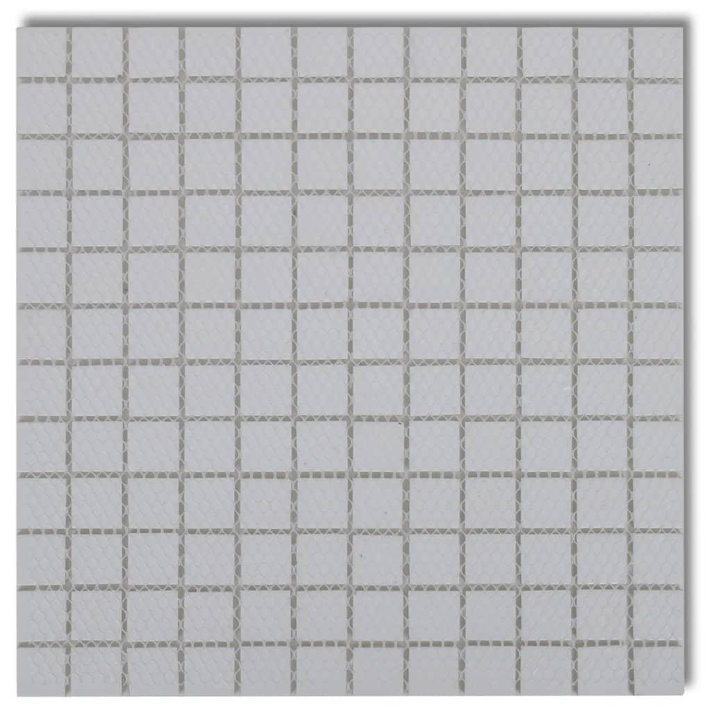 acheter carreaux mosa ques en verre blanc 30 pcs 2 7 m2. Black Bedroom Furniture Sets. Home Design Ideas