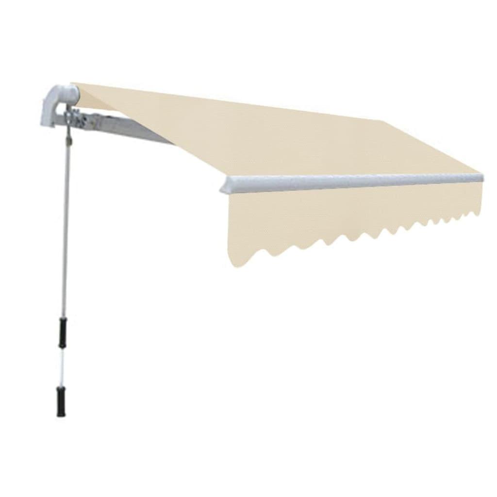 acheter store banne avec cadre 3 x 2 5 m blanc cr me pas cher. Black Bedroom Furniture Sets. Home Design Ideas