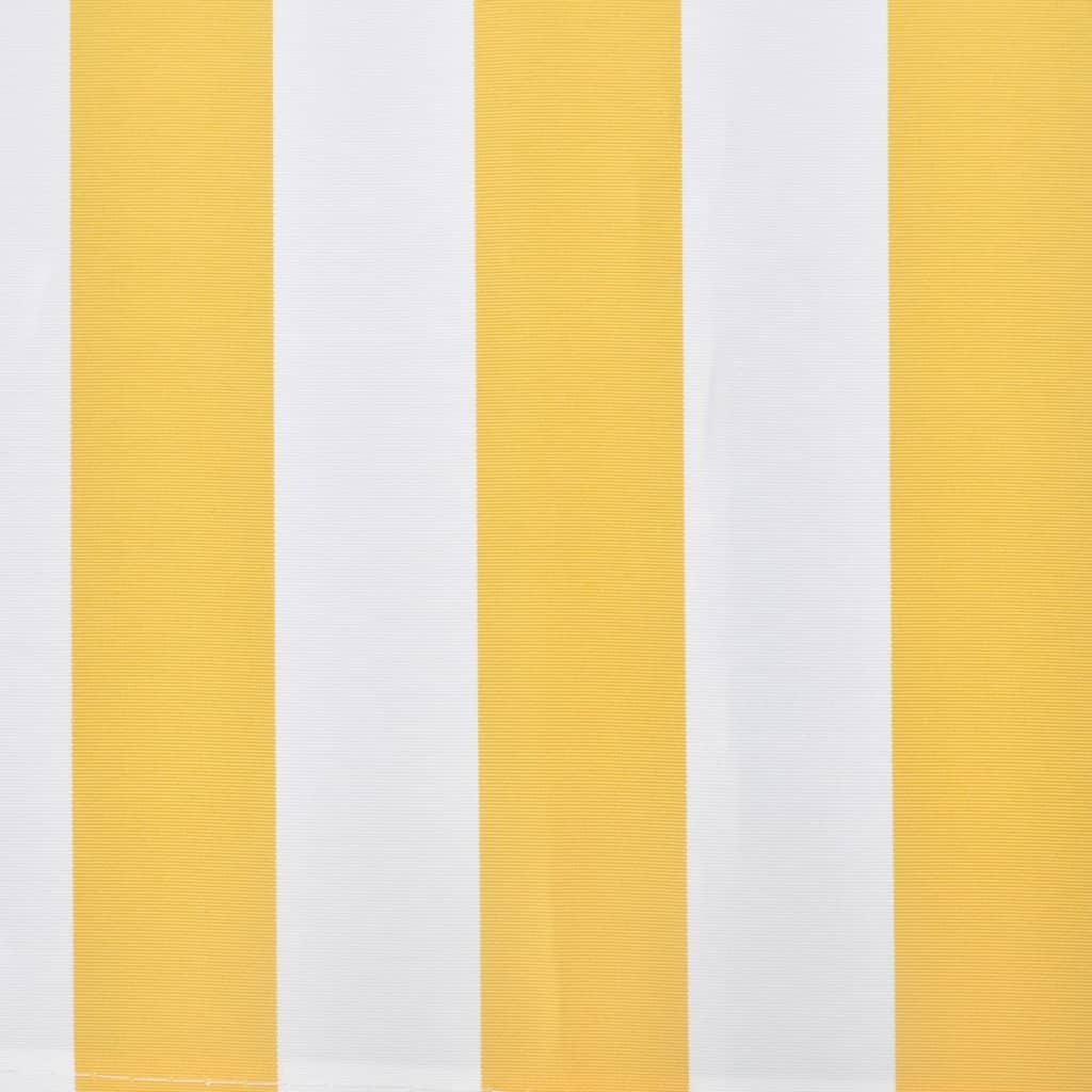 acheter store banne avec cadre 3 x 2 5 m jaune et blanc pas cher. Black Bedroom Furniture Sets. Home Design Ideas