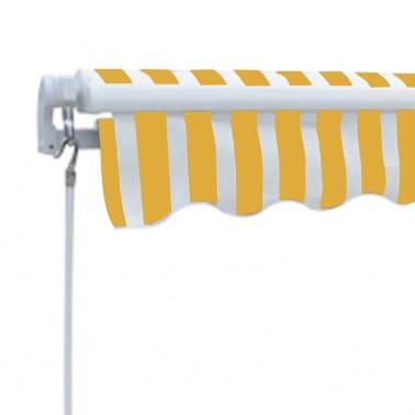 la boutique en ligne store banne avec cadre 3 x 2 5 m jaune et blanc. Black Bedroom Furniture Sets. Home Design Ideas