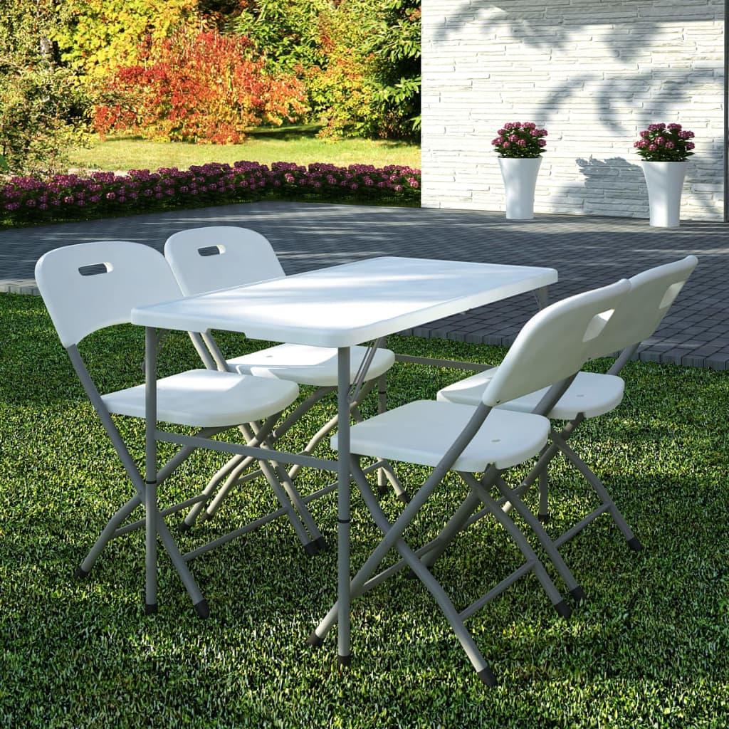 Acheter vidaxl set de 4 chaises pliables et 1 table en for Chaises pliables
