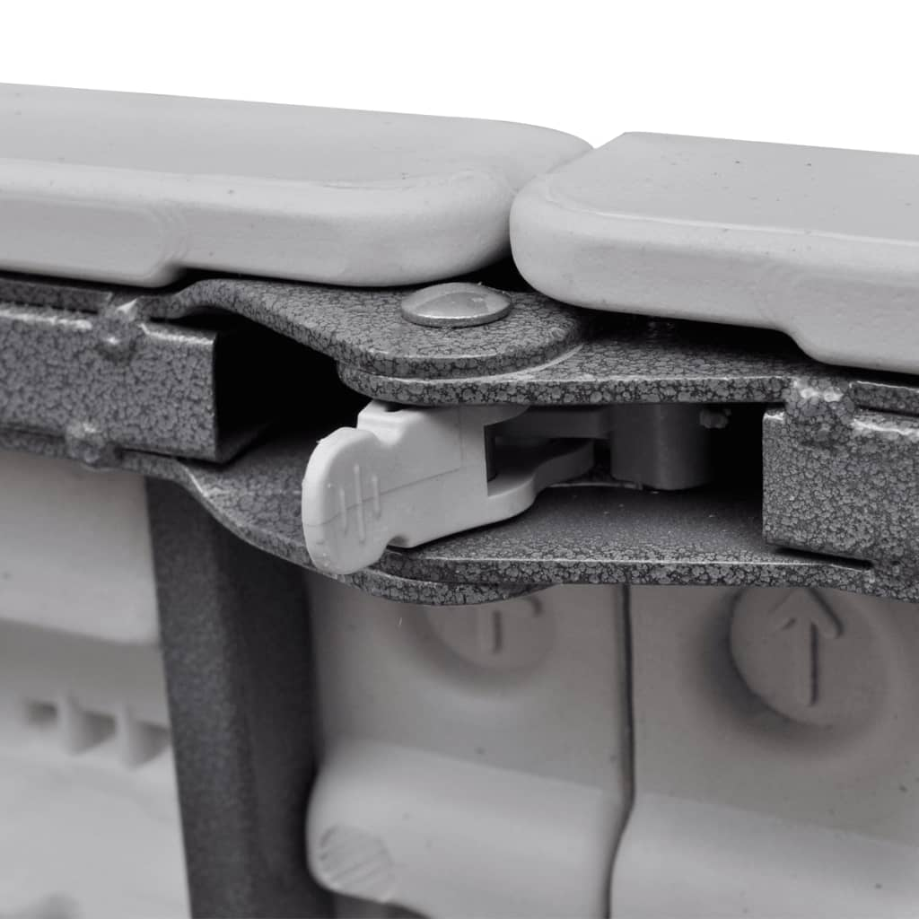 Vidaxl sillas de jard n plegable con mesa 9 piezas blanco for Sillas plegables de jardin