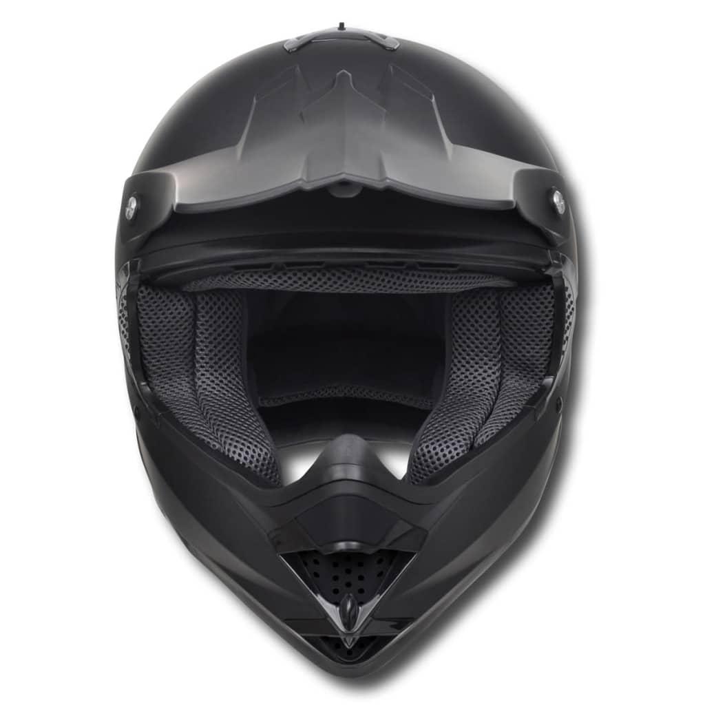 motocross motorradhelm schwarz m kein visier mit brillen. Black Bedroom Furniture Sets. Home Design Ideas