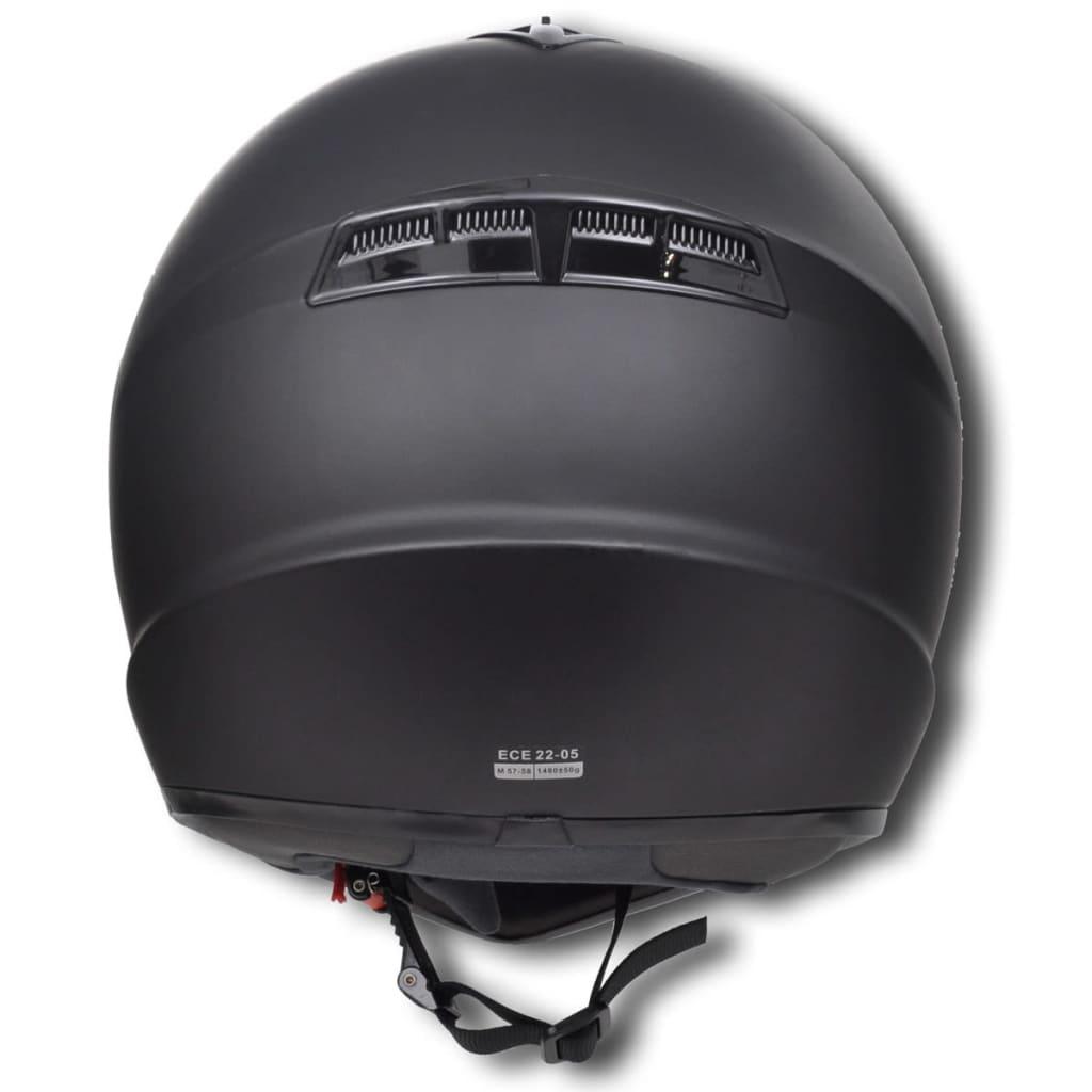 la boutique en ligne casque de moto noir m sans visi re. Black Bedroom Furniture Sets. Home Design Ideas