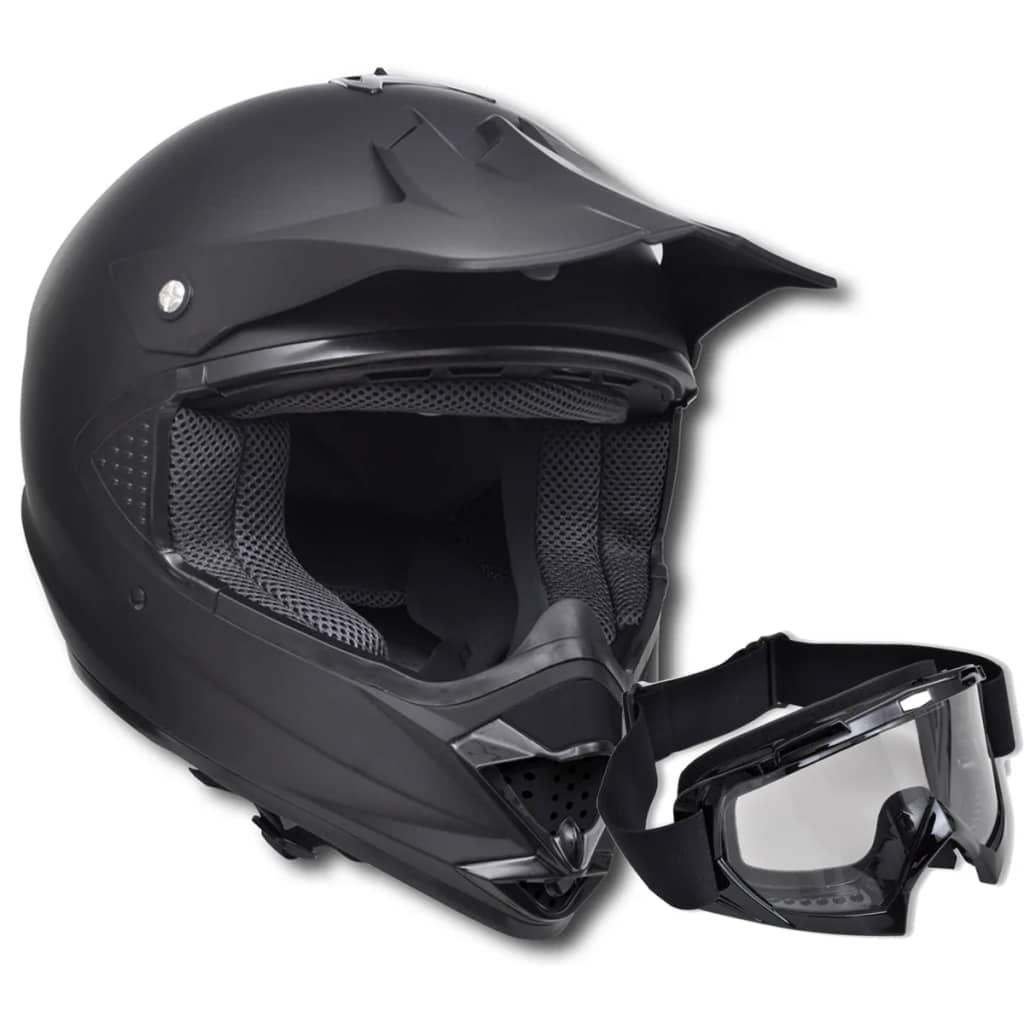 acheter casque de moto noir xl sans visi re avec lunette. Black Bedroom Furniture Sets. Home Design Ideas