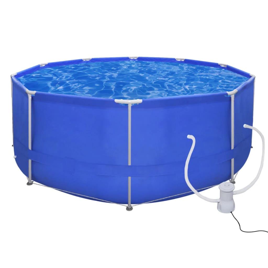 vidaXL Merevfalú medence Kerek 367 cm szűrő szivattyú 530 gallon / óra