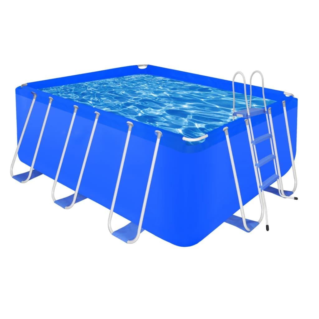 Schwimmbad pool rechteckig 8870 l leiter for Pool rechteckig