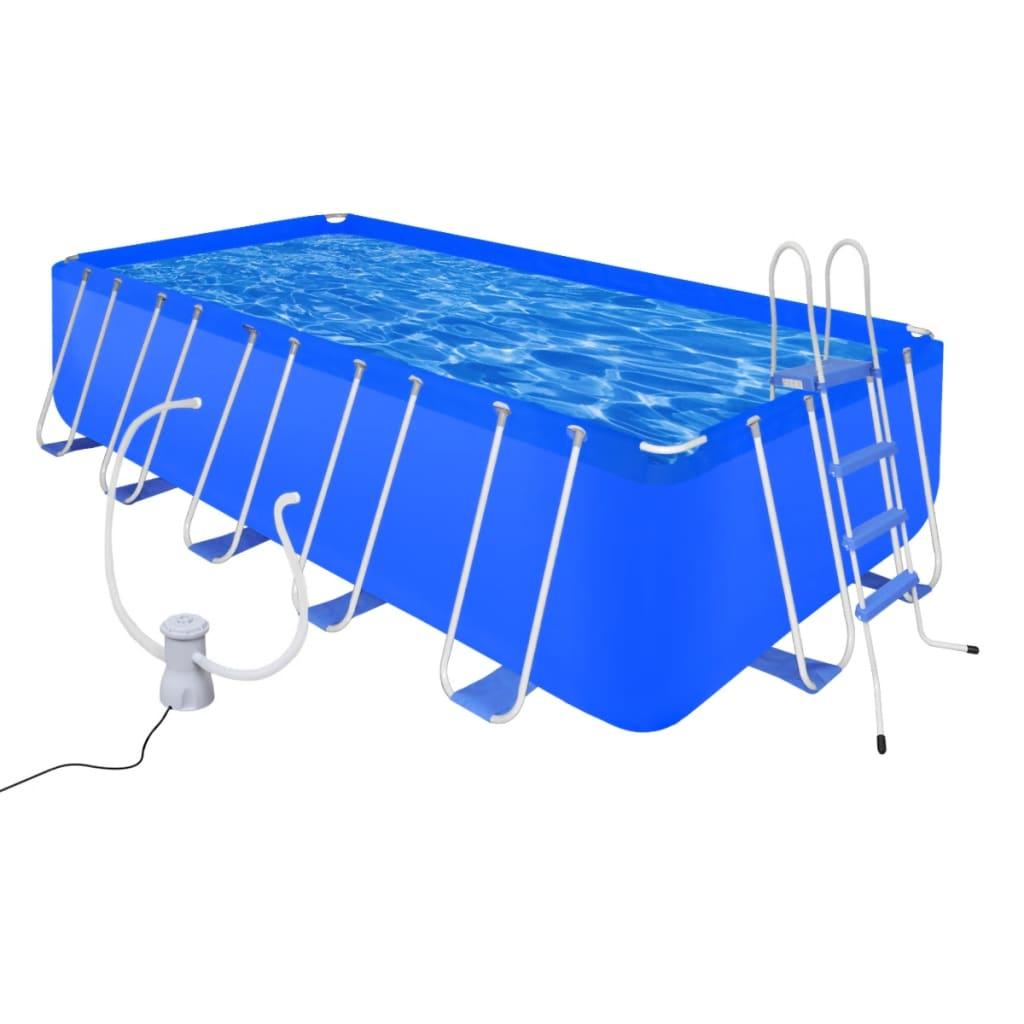 Ovanmarkspool Stål 12945L inkl. poolstege filterpump 3028L/h