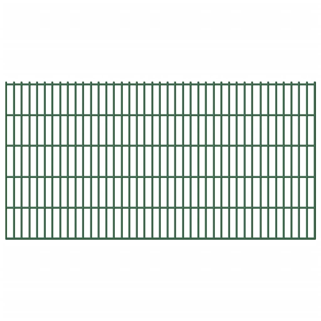 vidaXL Garden Border 2D Iron Fence Panel 6/5/6 mm Wire 20 pcs 103 cm 40 m