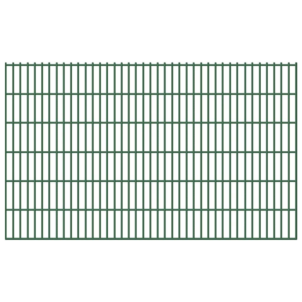 vidaXL Garden Border 2D Iron Fence Panel 6/5/6 mm Wire 20 pcs 123 cm 40 m