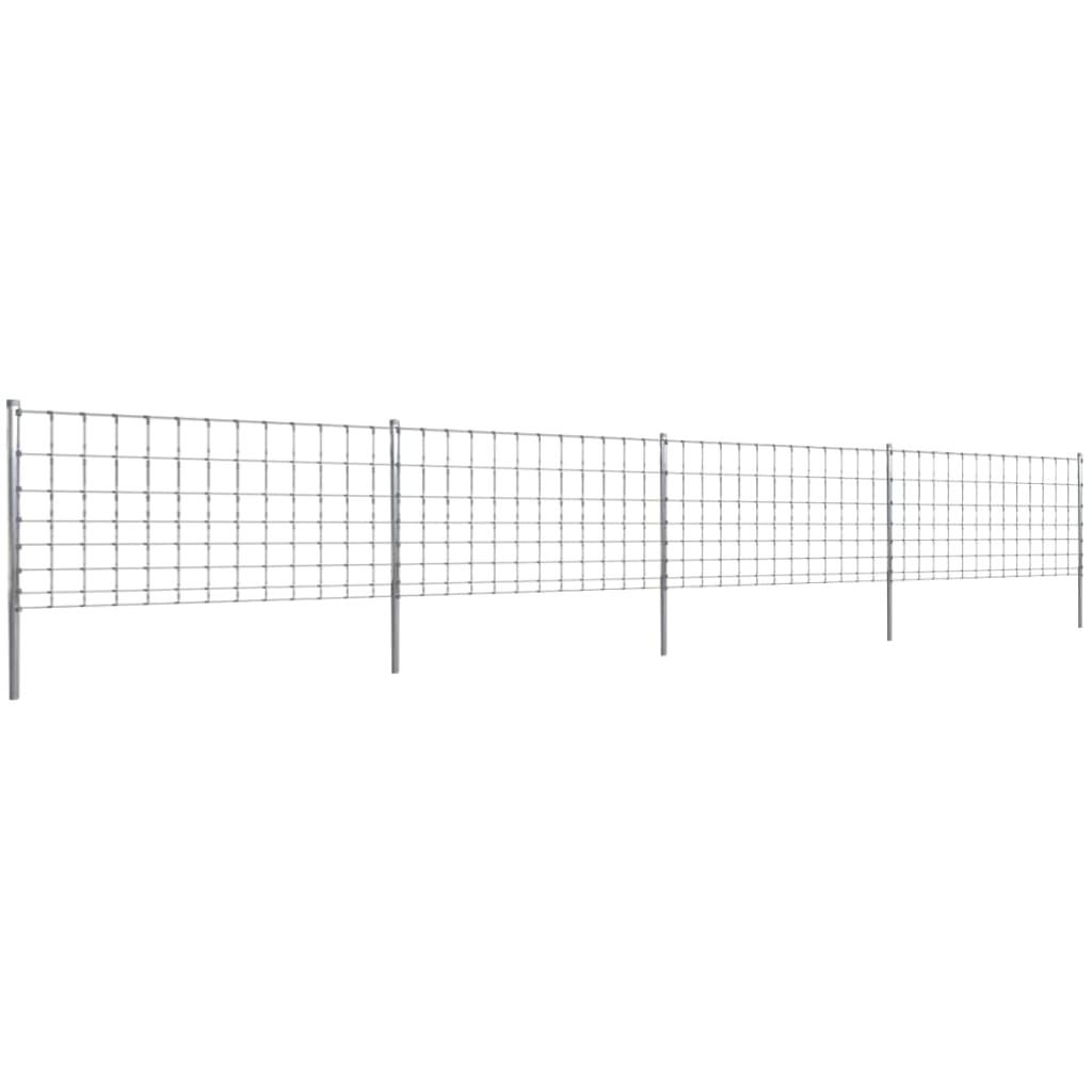 50m gartenzaun wildzaun verzinkt mit pfosten 100 6 30. Black Bedroom Furniture Sets. Home Design Ideas