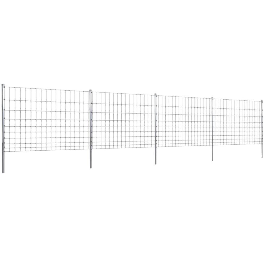 vidaXL Kerti Kerítés 50 m Horganyozott Huzal 150/2/15