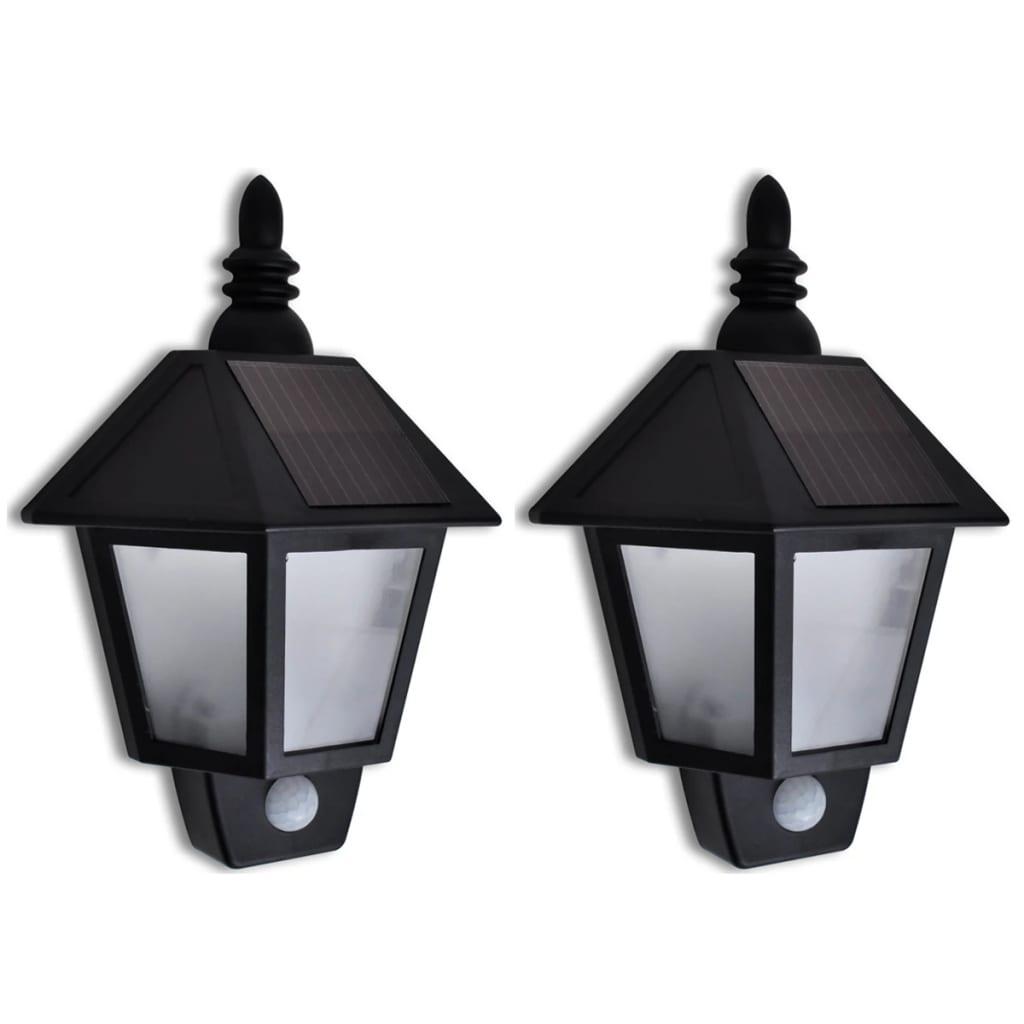 vidaXL Napelemes Fali Lámpa Mozgás Érzekelővel 2 db