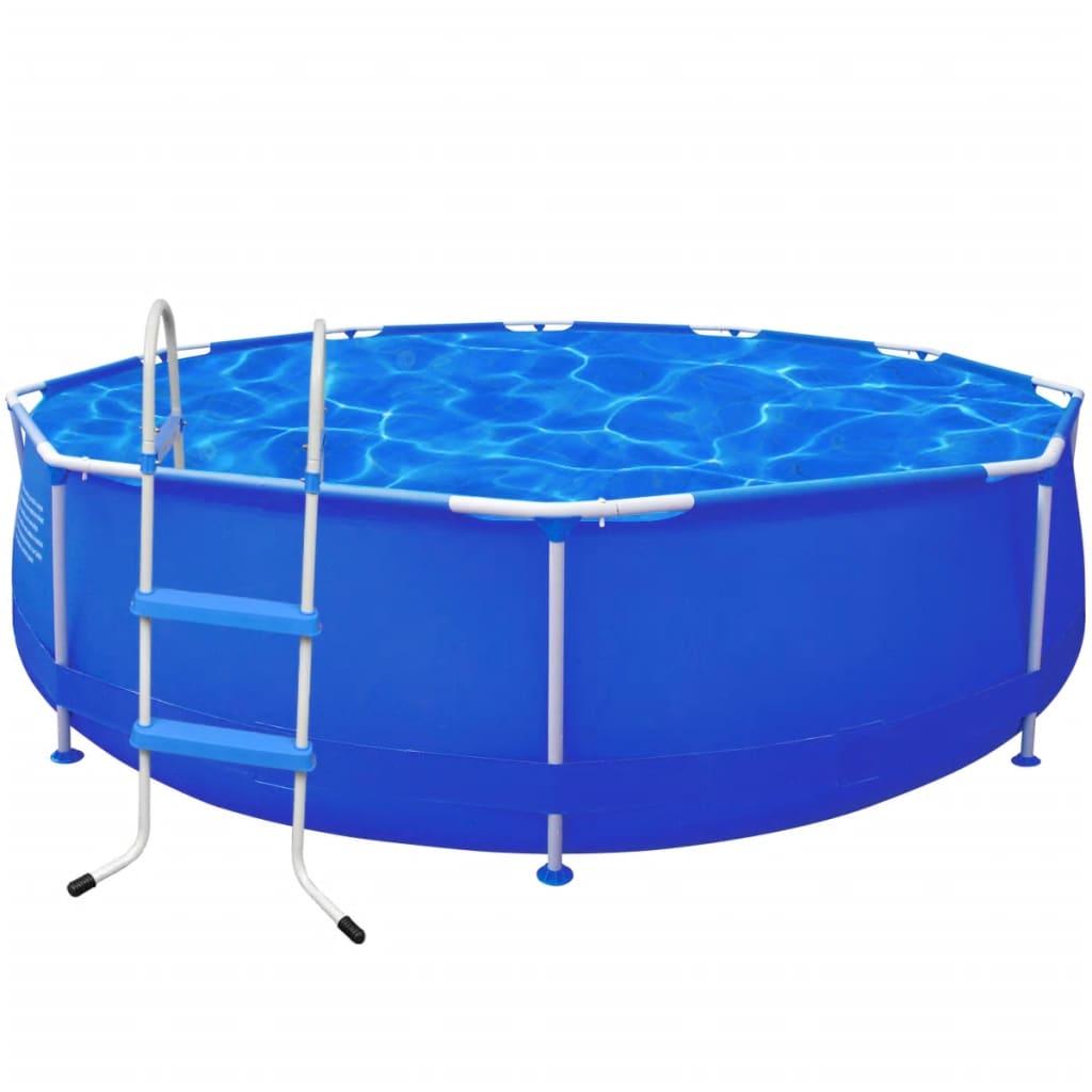 la boutique en ligne piscine ronde 360 x 76 cm avec echelle marches. Black Bedroom Furniture Sets. Home Design Ideas