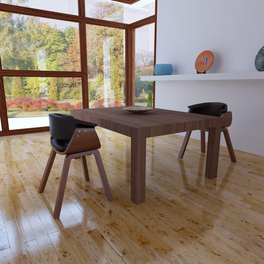 Lot de chaises de salle manger en cuir artificiel for Chaises de salle a manger en cuir