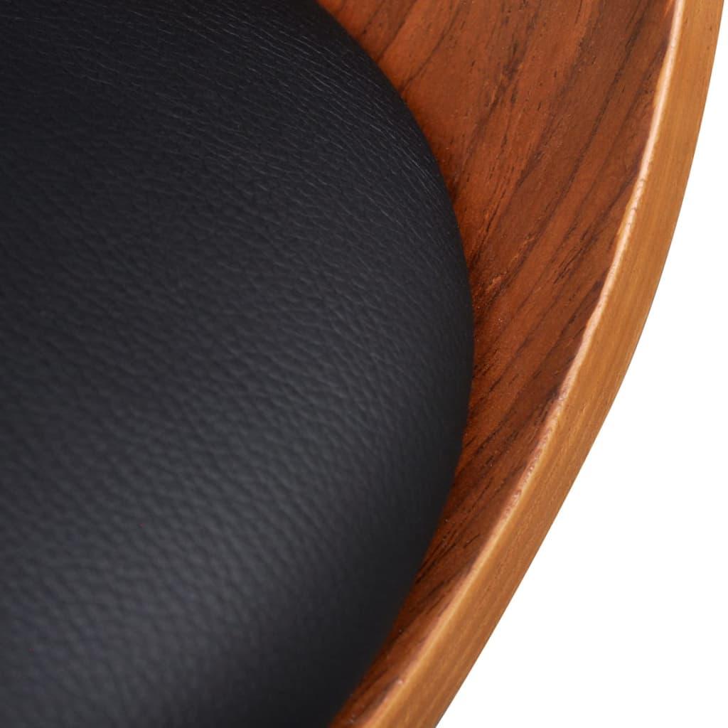 Silla de comedor moderna de madera y cuero artificial 4 for Sillas de comedor modernas en madera