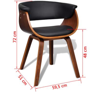 4x moderner lehnstuhl aus kunstleder und holz g nstig. Black Bedroom Furniture Sets. Home Design Ideas