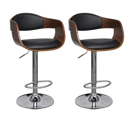 leren barkruk met rugleuning set van twee online kopen. Black Bedroom Furniture Sets. Home Design Ideas