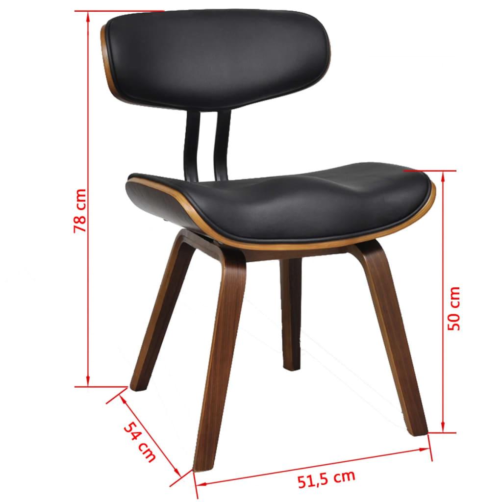 Moderne eetkamerset van vier stoelen met rugleuning kunstleer hout - Moderne stoelen ...