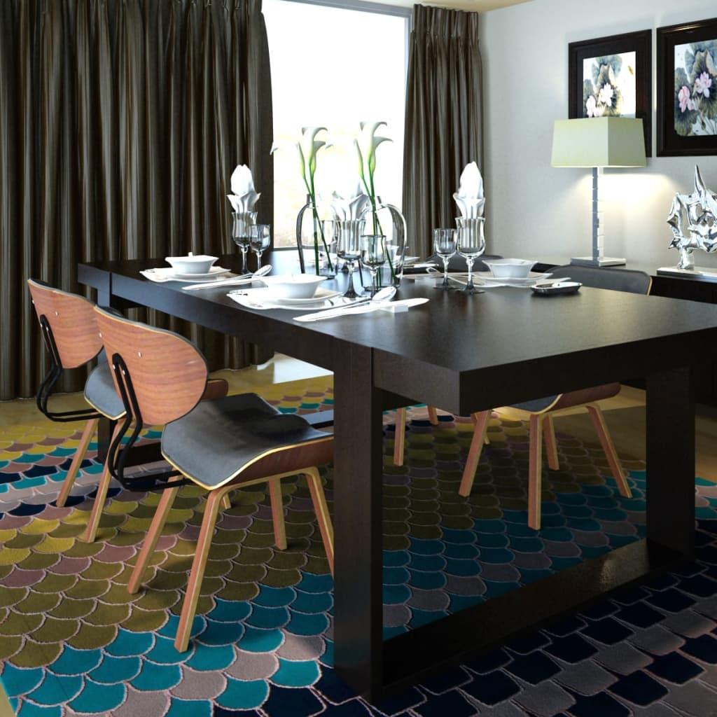 Cadeira couro artificial e madeira com encosto / 4 peças (4 x 241054  #966735 1024x1024