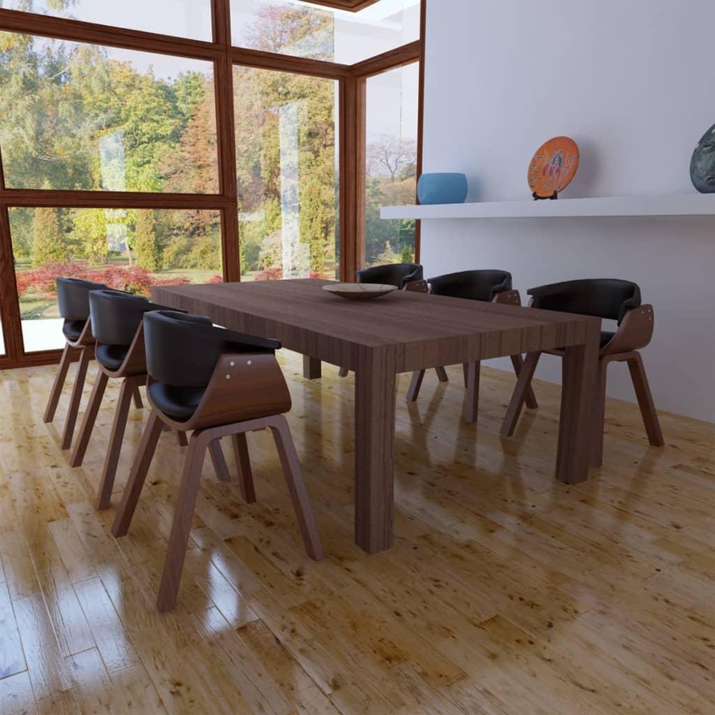 Acheter lot de 6 chaises de salle manger en cuir for Salle a manger en solde