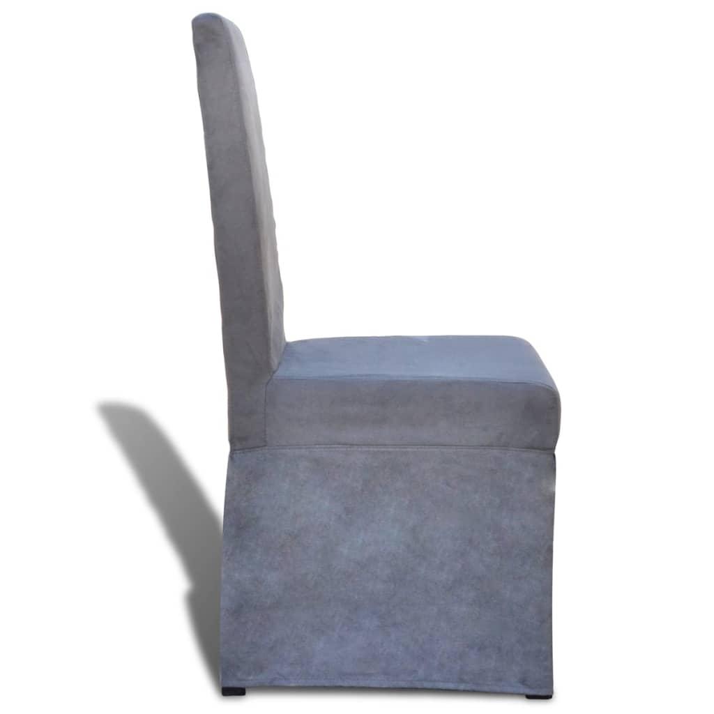 La boutique en ligne chaise de salle à manger gris foncé 6 pcs ...