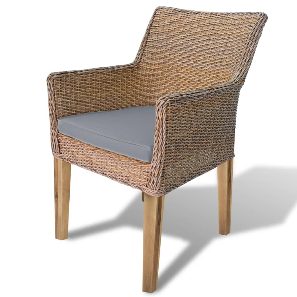 1 2x rattan gartenstuhl sessel gartenm bel hochlehner balkon terrasse sitzkissen ebay. Black Bedroom Furniture Sets. Home Design Ideas