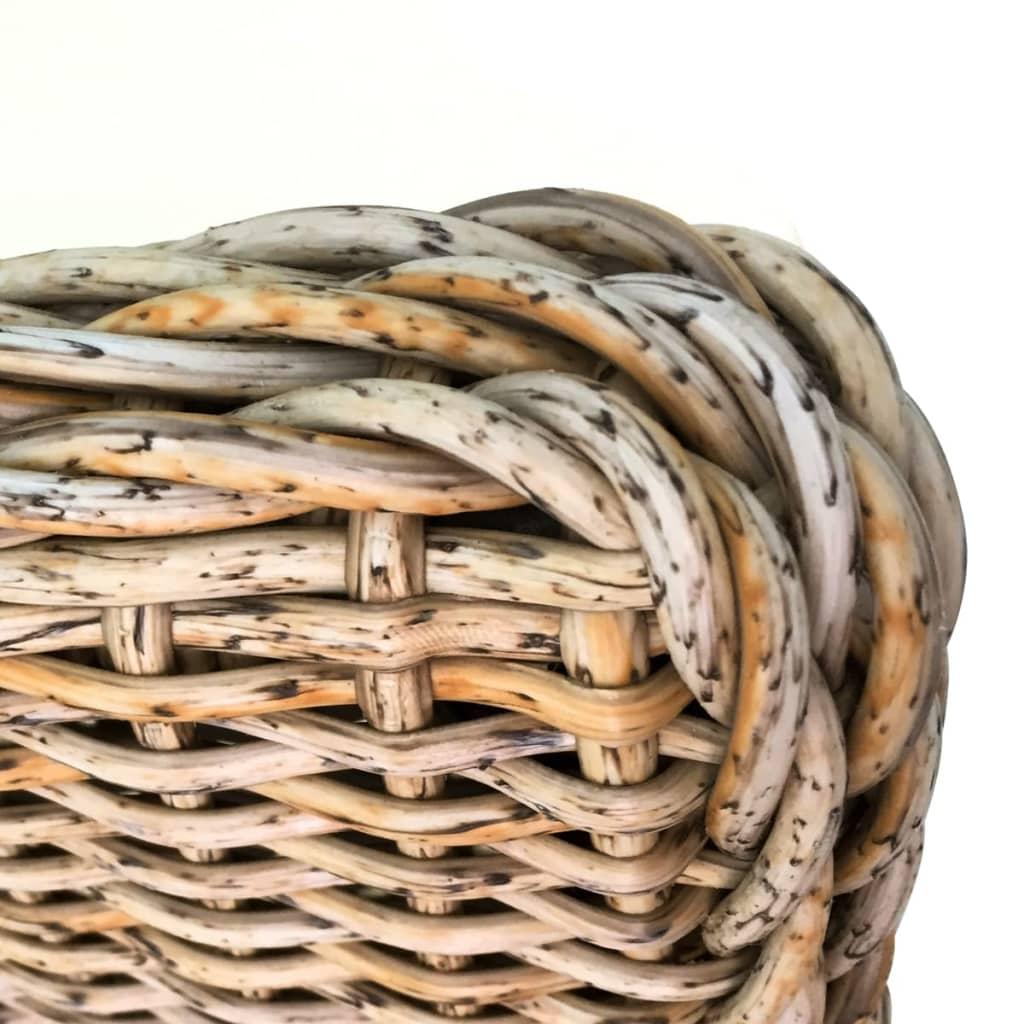 Conjunto 2 cadeiras Rattan pernas de madeira e almofada de espuma / 2  #8D653E 1024x1024