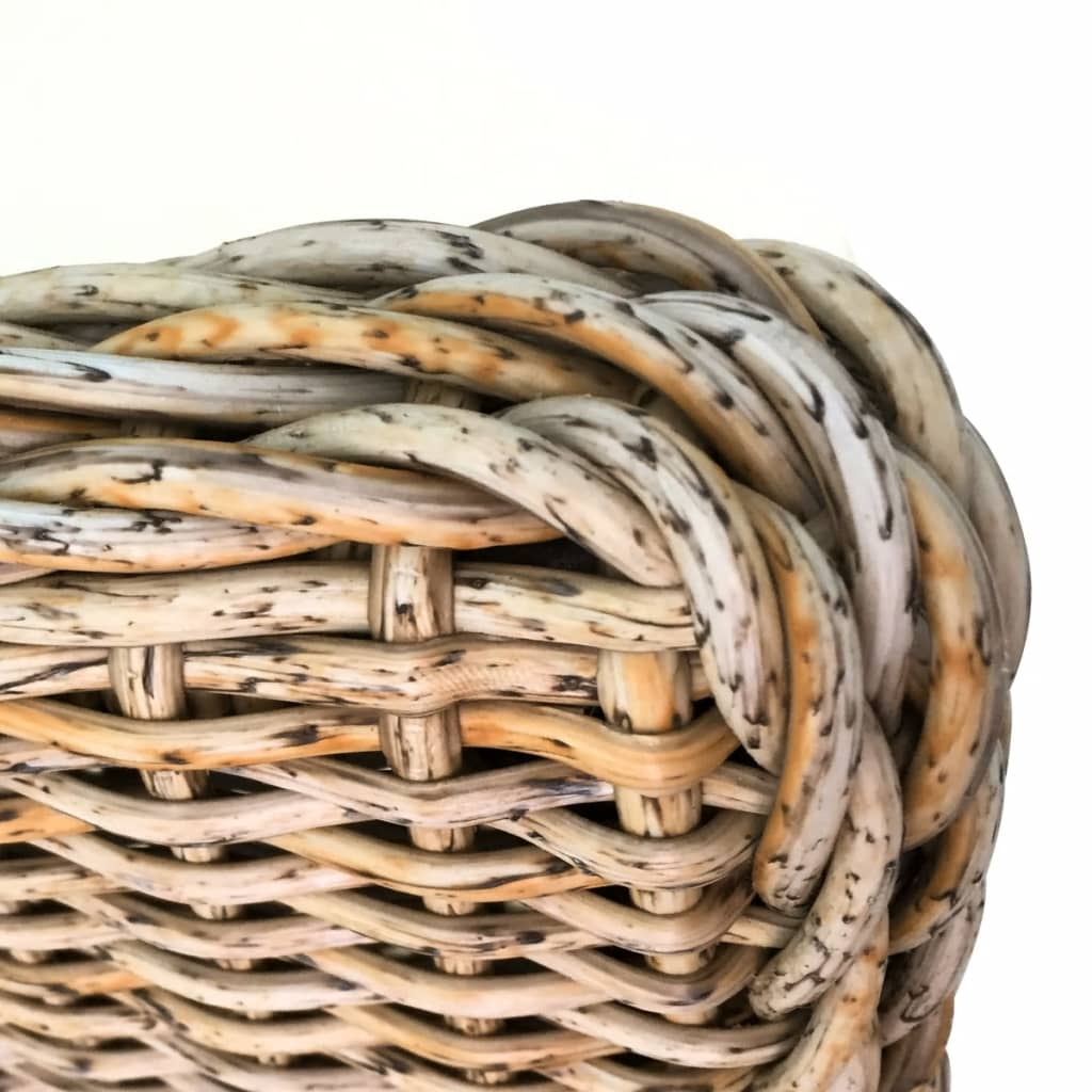 Conjunto 2 cadeiras Rattan pernas de madeira e almofada de espuma / 2  #976434 1024x1024