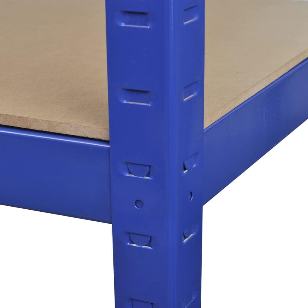 der 2 x regal lagerregal steckregal metallregal. Black Bedroom Furniture Sets. Home Design Ideas