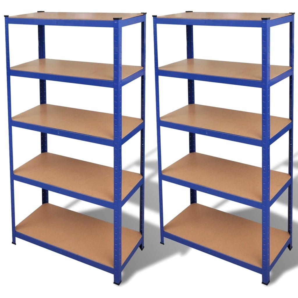 Afbeelding van vidaXL Opbergrek blauw 2 st