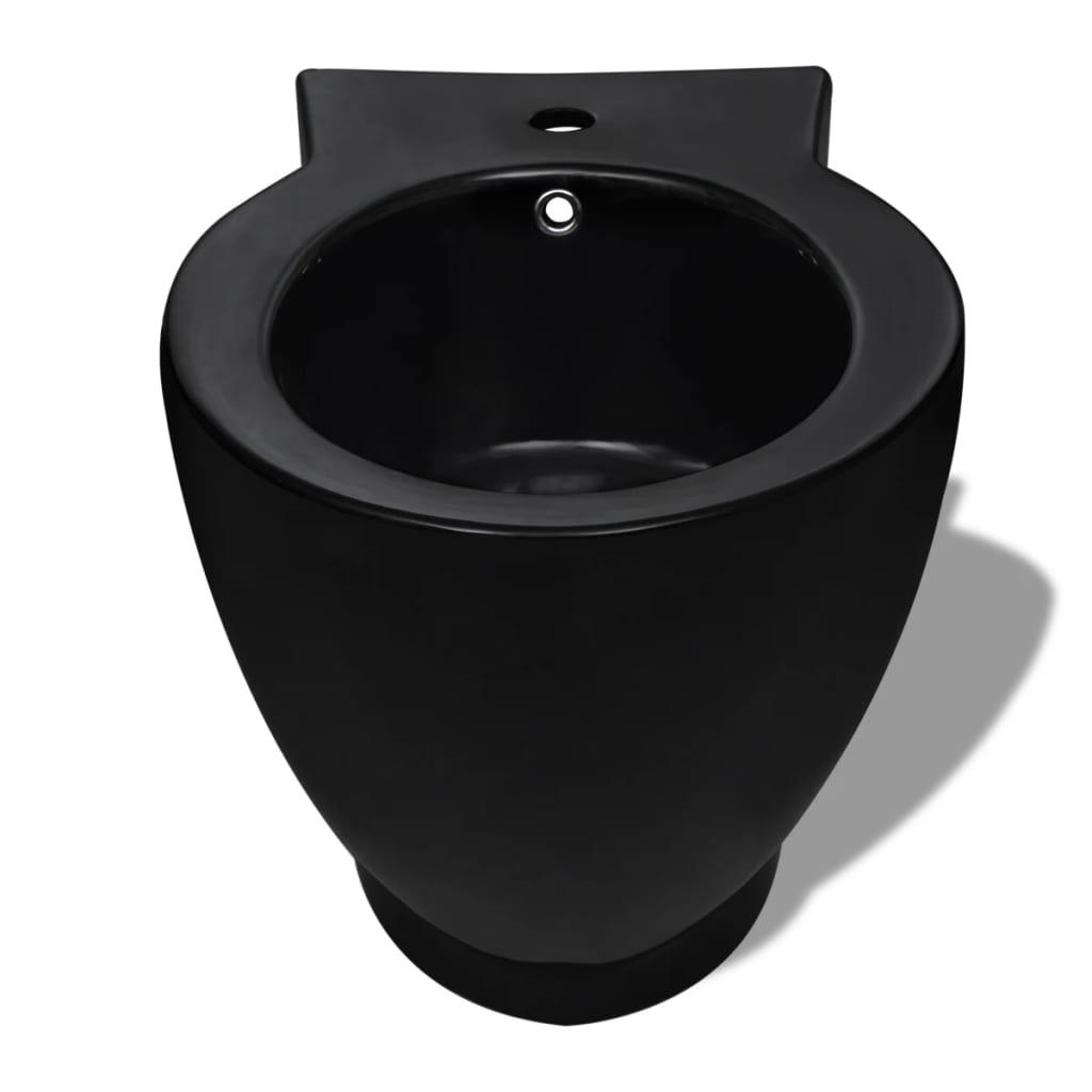 der keramik toilette bidet set schwarz online shop. Black Bedroom Furniture Sets. Home Design Ideas