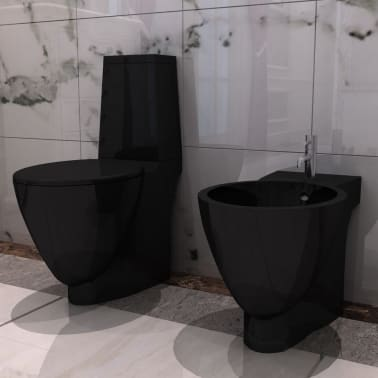 black ceramic toilet bidet set. Black Bedroom Furniture Sets. Home Design Ideas