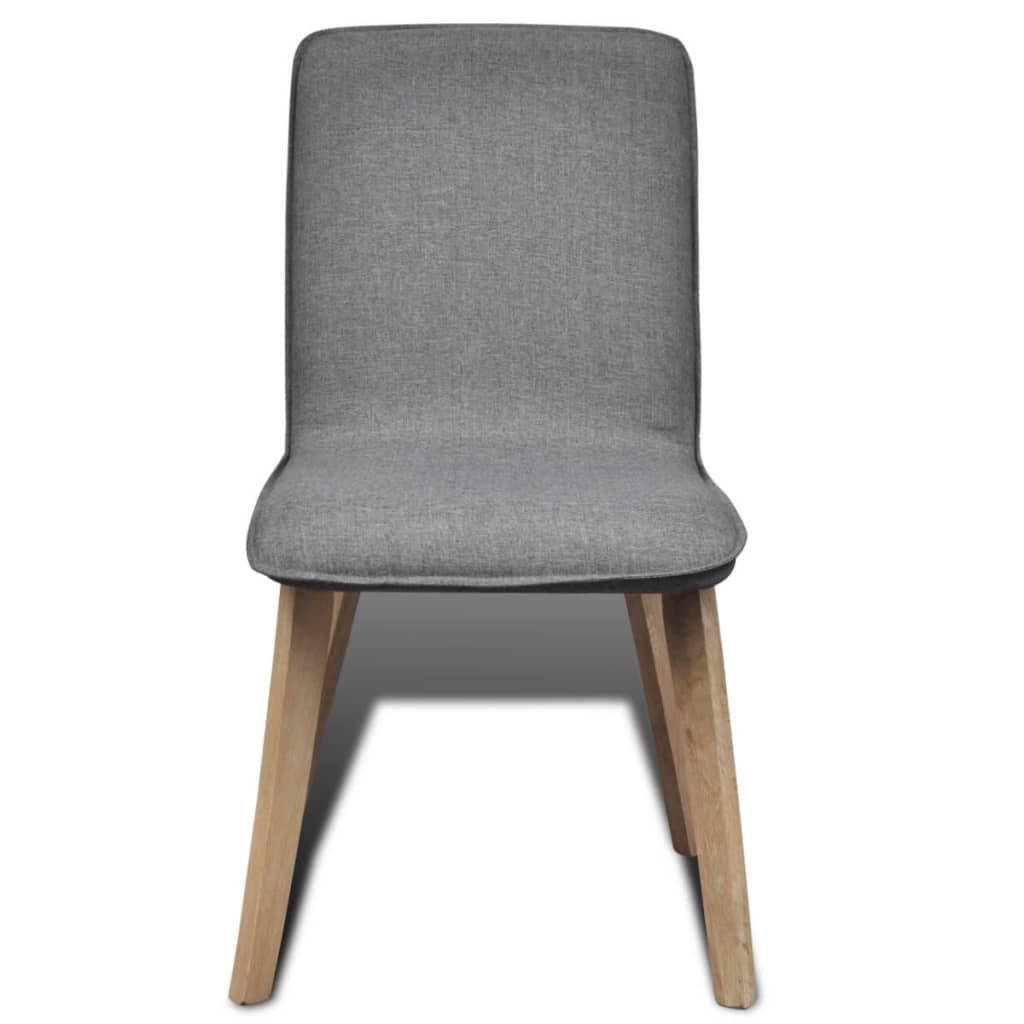 silla de comedor de estilo cl sico de roble 6 unidades On sillas grises para comedor