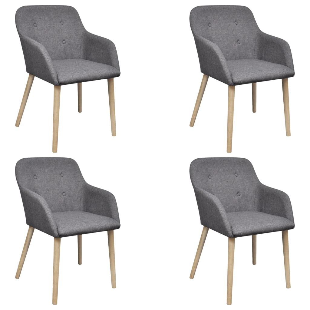 acheter chaise gondole accoudoir int rieur ch ne et tissu 4 pi ces gri fonc pas cher. Black Bedroom Furniture Sets. Home Design Ideas