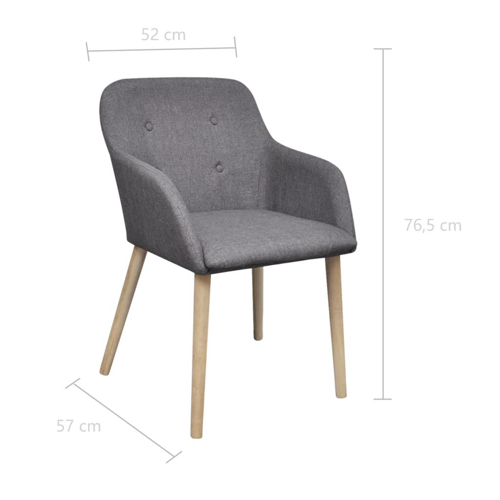 la boutique en ligne chaise gondole accoudoir int rieur ch ne et tissu 6 pi ces gris fonc. Black Bedroom Furniture Sets. Home Design Ideas