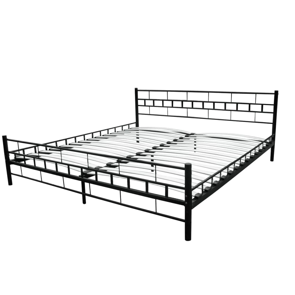 der bett metallbett 180 x 200 cm mit matratze schwarz online shop. Black Bedroom Furniture Sets. Home Design Ideas