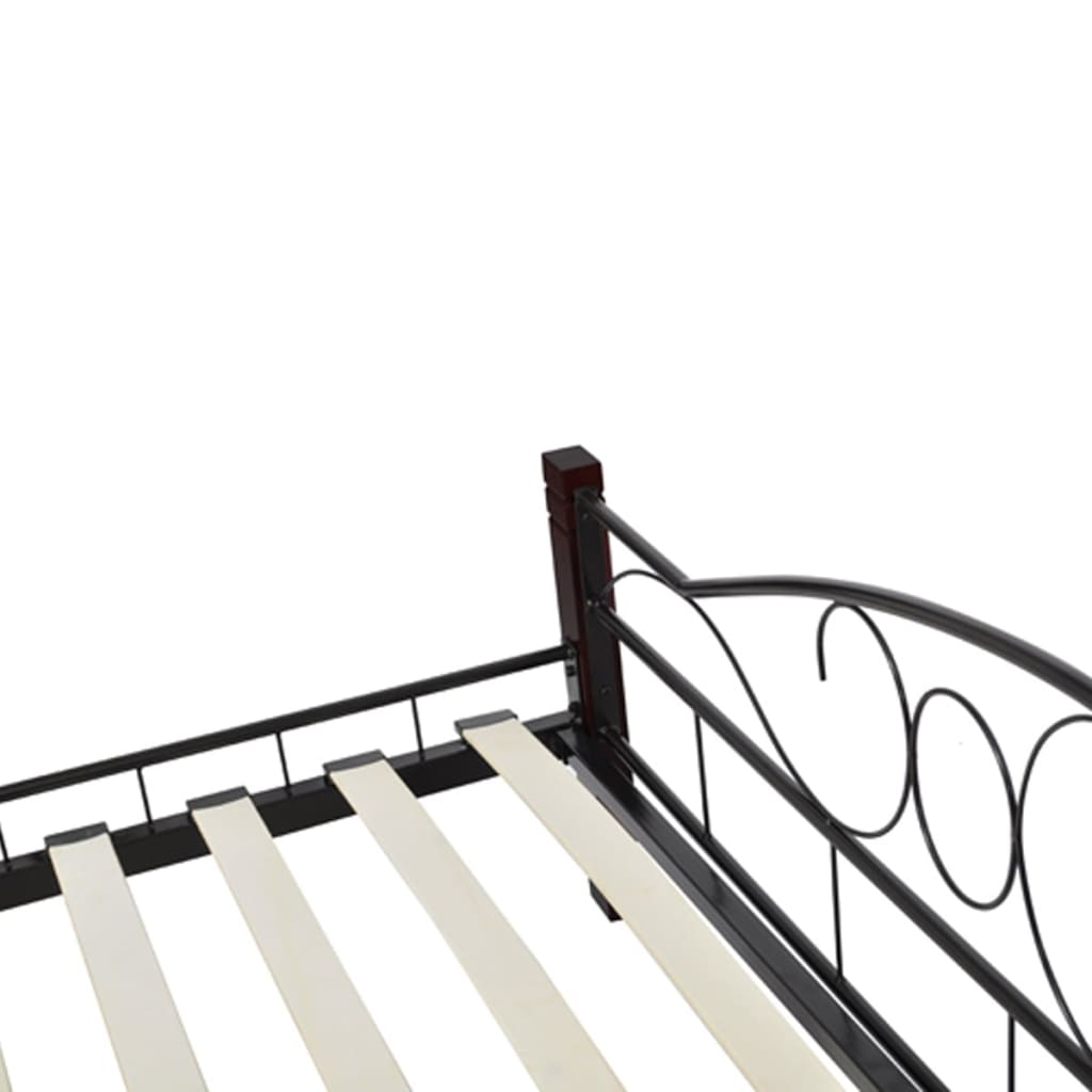bett metallbett doppelbett 140 x 200 memory matratze schwarz g nstig kaufen. Black Bedroom Furniture Sets. Home Design Ideas