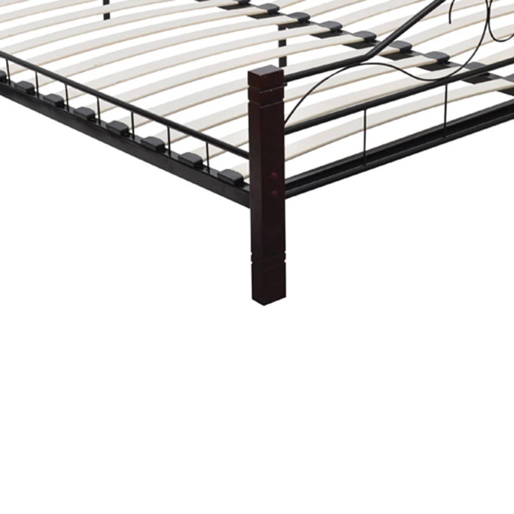 la boutique en ligne lit noir m tallique avec matelas m moire de forme 140 x 200 cm. Black Bedroom Furniture Sets. Home Design Ideas