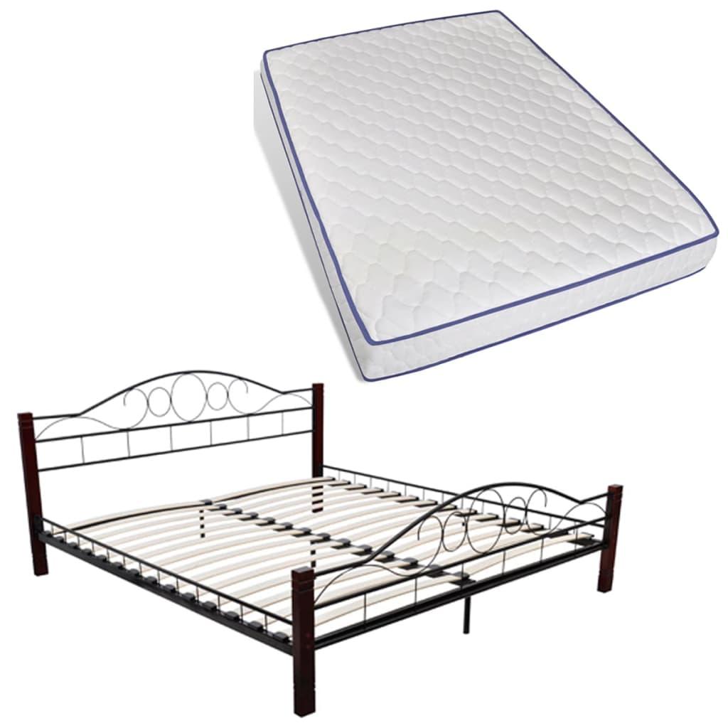 der bett metallbett doppelbett 140 x 200 memory matratze. Black Bedroom Furniture Sets. Home Design Ideas