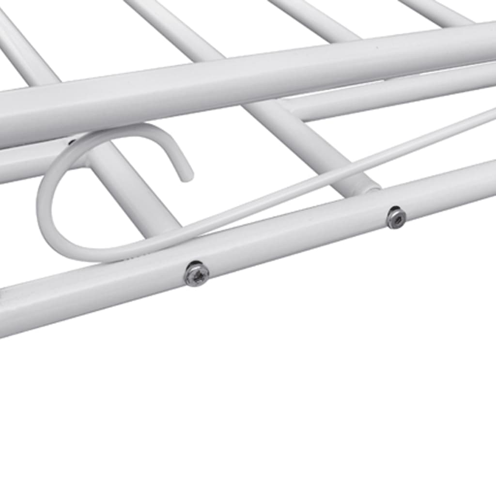 der einzelbett metallbett 90 x 200 cm mit memory schaum matratze wei online shop. Black Bedroom Furniture Sets. Home Design Ideas