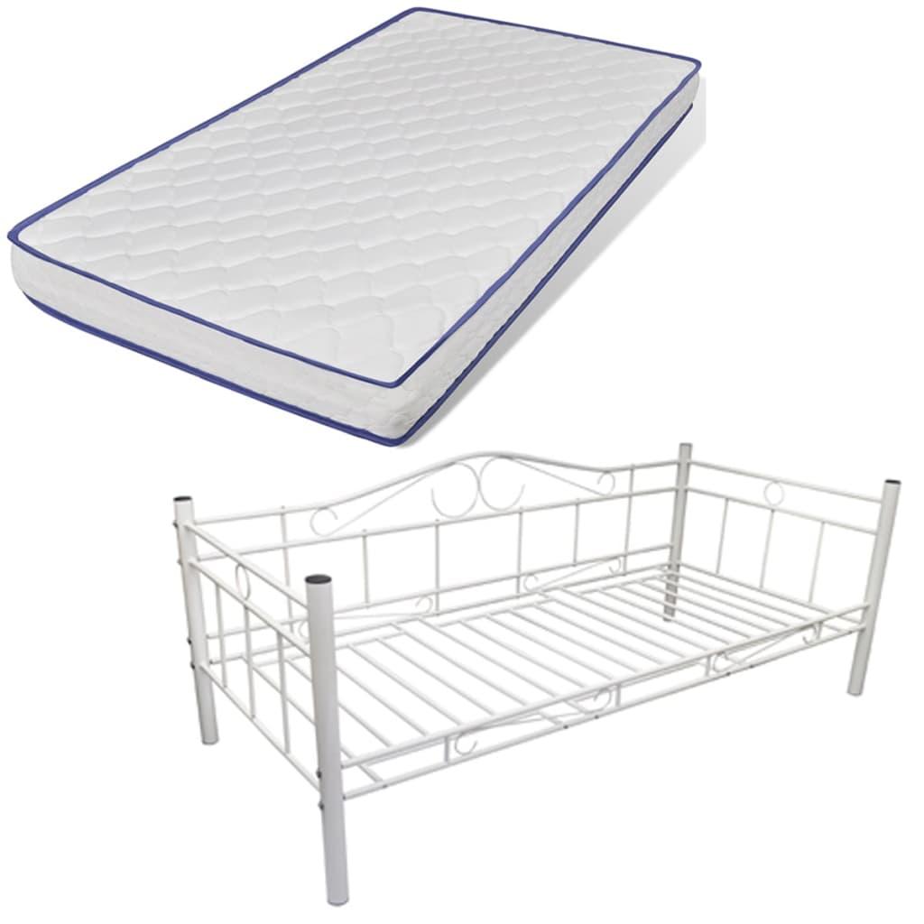einzelbett metallbett 90 x 200 cm mit memory schaum. Black Bedroom Furniture Sets. Home Design Ideas