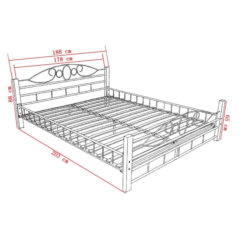 bett metallbett 180 x 200 cm memory kaltschaum matratze. Black Bedroom Furniture Sets. Home Design Ideas