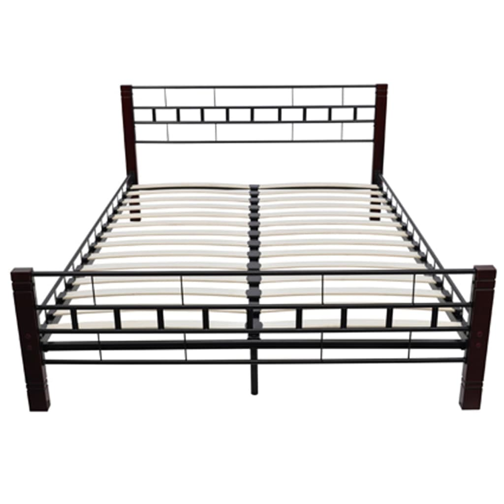 der bett metallbett 180 x 200 cm matratze schwarz rot braun online shop. Black Bedroom Furniture Sets. Home Design Ideas