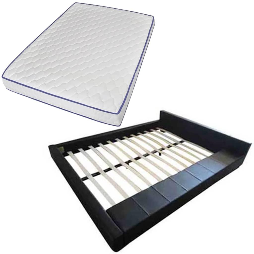 der bett kunstlederbett 140 x 200 cm memory schaum matratze online shop. Black Bedroom Furniture Sets. Home Design Ideas