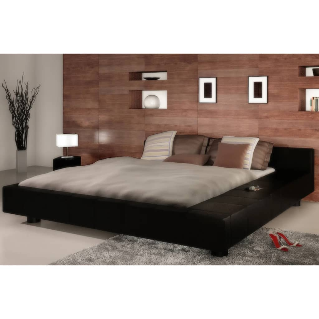 der bett kunstlederbett 140 x 200 cm memory schaum matratze online shop. Black Bedroom Furniture Sets. Home Design Ideas