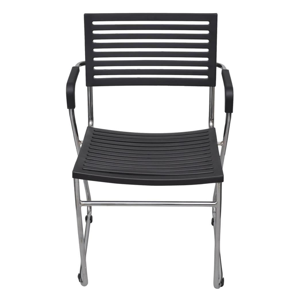 acheter chaise empilable avec accoudoir 24 pi ces noir pas cher. Black Bedroom Furniture Sets. Home Design Ideas